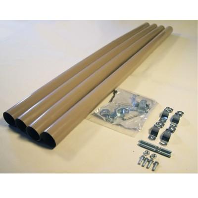 Kit di 4 Pluviali compatibili con le casette da giardino Tuscany Evo 280