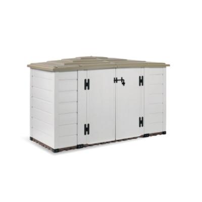 Box da Giardino in Resina Box Evo 200, con Pavimentazione inclusa, 212x88x133h cm