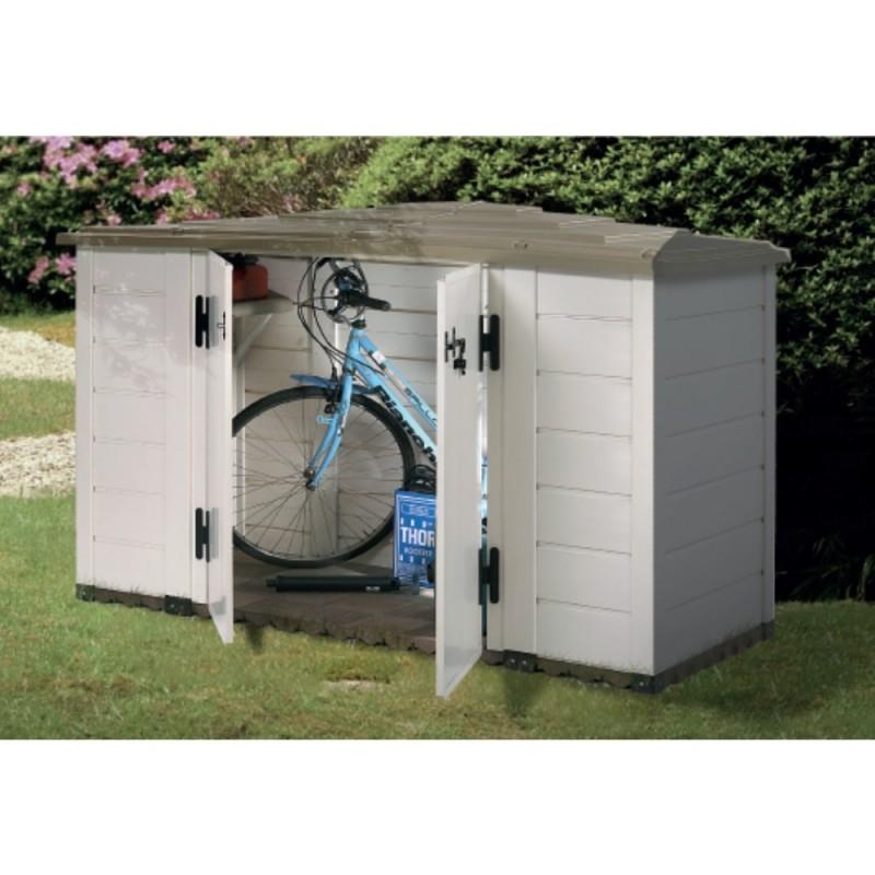 Box In Plastica Per Giardino.Box Da Giardino In Resina Box Evo 200 Con Pavimentazione