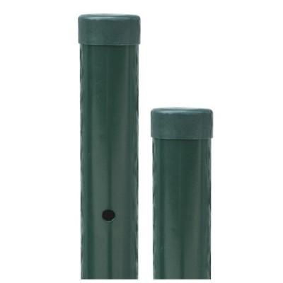 Palo per recinzione elettrosaldata, 125 cm di altezza, colore verde