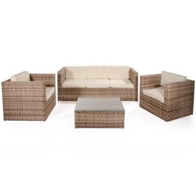 Salotto da giardino CAPRI con divano, tavolino e due poltrone