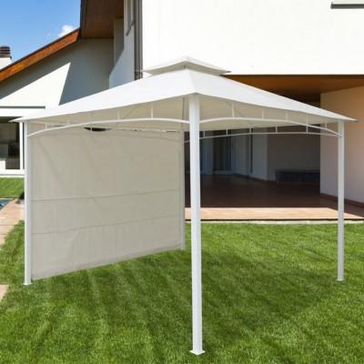 Gazebo ANTIGUA 3,30x3,30 m, colore bianco