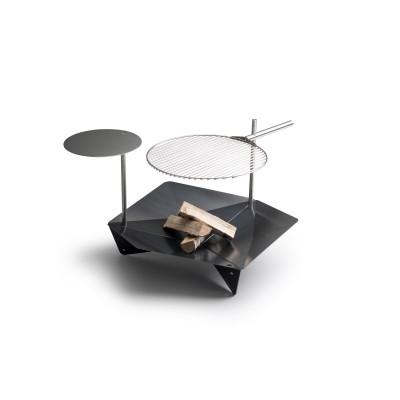 TRIPLE 90 - Braciere e Griglia, include griglia e tavolino