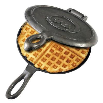 Old Fashioned Waffle Iron - Cast Iron