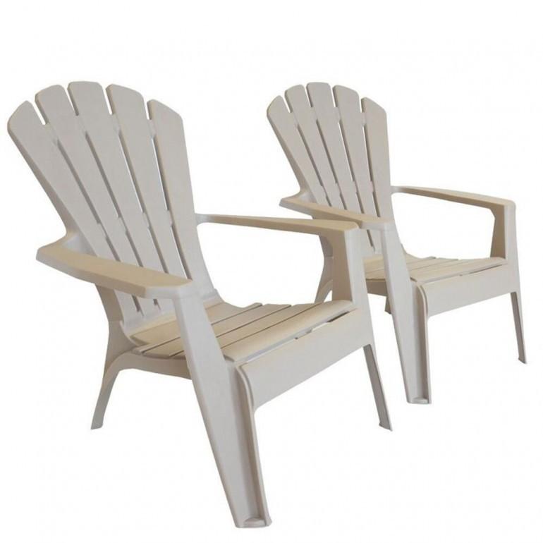 Sedie Da Esterno In Plastica.Sedia In Plastica Grande Da Giardino E Terrazzo Adirondack King