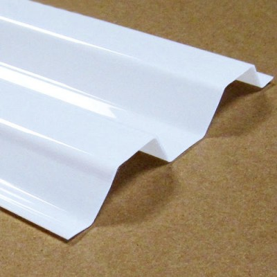 Lastra corrugata in policarbonato tipo greca 76/18 spessore 0,8 mm dimensione 120 x 200 cm Opale