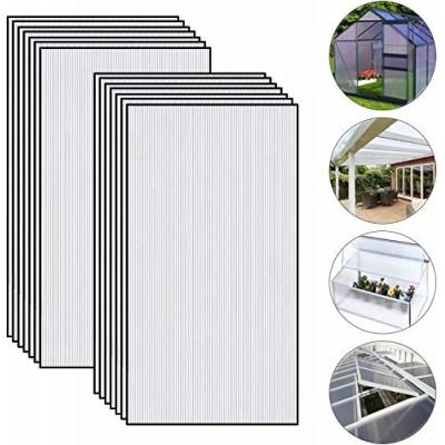 Set di 24 pezzi in policarbonato resistente ai raggi UV per serre da giardino (605 x 1210 x 4 mm)
