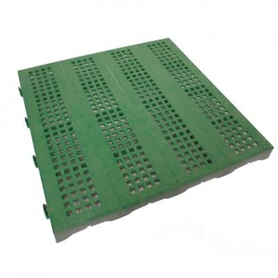 1 Piastrella in Plastica da Esterno e Giardino 40 x 40 cm Forata verde