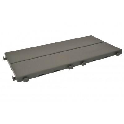 Piastrella Singola autobloccante in Plastica con Finitura ad Effetto Legno 37,7 x 18,6 cm da Interno Esterno e Giardino