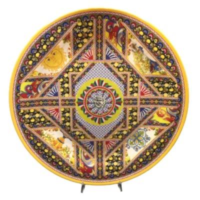 Piatto Tondo da Portata in Melamina da 46 cm Linea Boutique Santa Rosalia