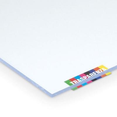 Lastra di policarbonato compatto 3 mm trasparente protetta contro i raggi UV