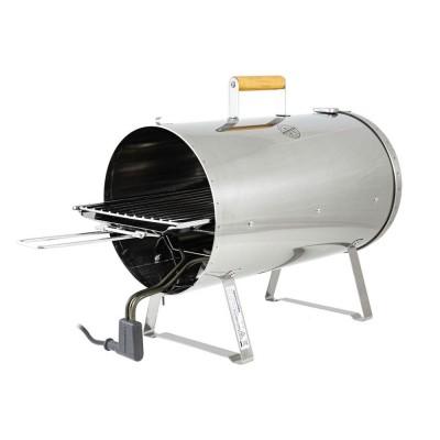 Smoker in Acciaio Inox. Affumicatore elettrico Muurikka PRO 1100 watt, 25 x 50 cm, superficie di cottura 24 x 42 cm