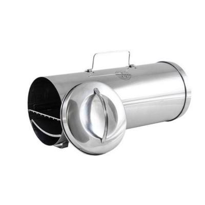 Smoker portatile in acciaio inox. Affumicatore elettrico portatile Muurikka, 16 x 40 cm, superficie di cottura 14x 38 cm
