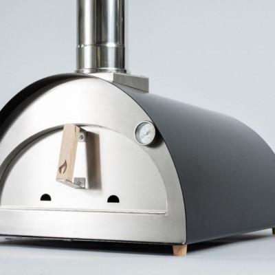 """Forno per Pizza e pane Ventura """"Nano"""" alimentato a legna. In acciaio inox. Temperatura massima 500C°"""