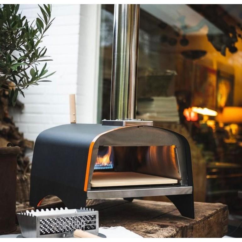 """Forno per Pizza e pane Ventura """"Ibrido"""" alimentato a Legna, gas o pellet. In acciaio inox. Temperatura massima 500C°"""