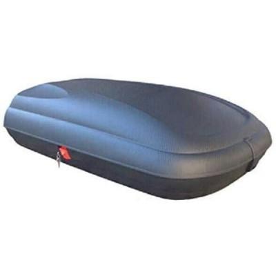 Box Baule per tetto auto in polipropilene finitura carbonio, capacità 320 LT, 1320x778x345 mm
