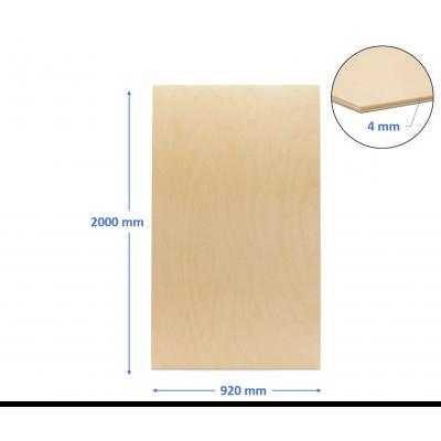 pannello compensato 4 mm pioppo misura 920 x 2000 mm