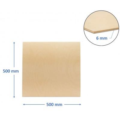 pannello compensato 6 mm betulla baltica misura 500 x 500 mm