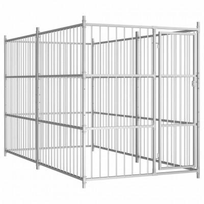 """""""Bergamo"""": canile per esterno con copertura. spaziosa recinzione per cani 300 x 150 x 185 cm"""