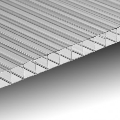 Lastra policarbonato alveolare spessore 4 mm 100 x 100 cm Trasparente