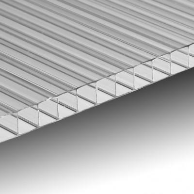 Lastra policarbonato alveolare spessore 6 mm 100 x 105 cm Trasparente
