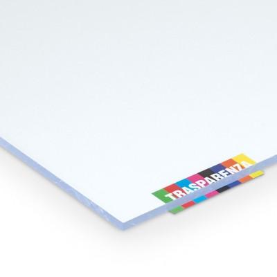 Lastra vetro sintetico spessore 2,5 mm dimensione 100 x 50 cm trasparente finitura superficie liscia