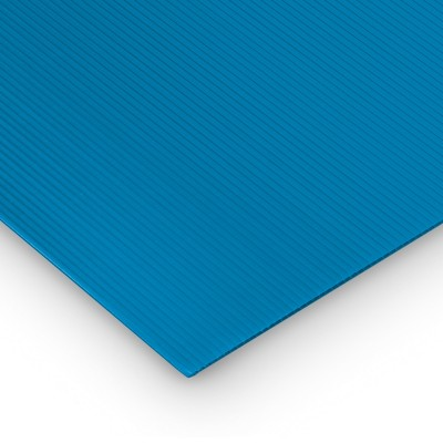 Polipropilene alveolare-polionda, colore Blu, 200 x 100 cm