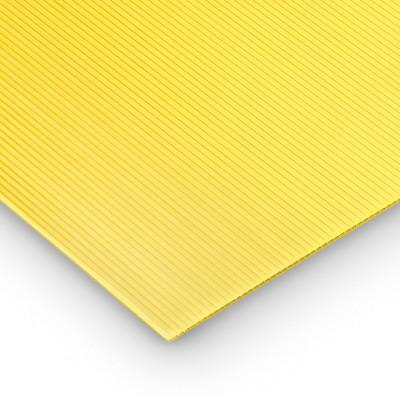 Polipropilene alveolare-polionda, colore Giallo, 100 x 50 cm
