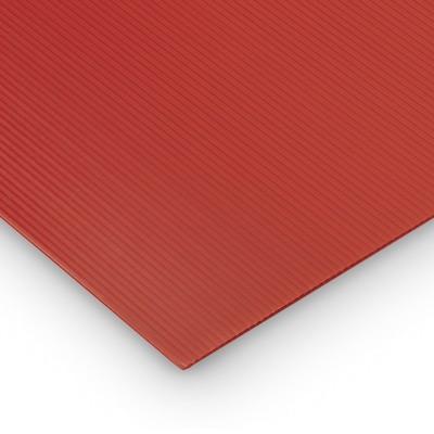 Polipropilene alveolare-polionda, colore Rosso, 50 x 50 cm