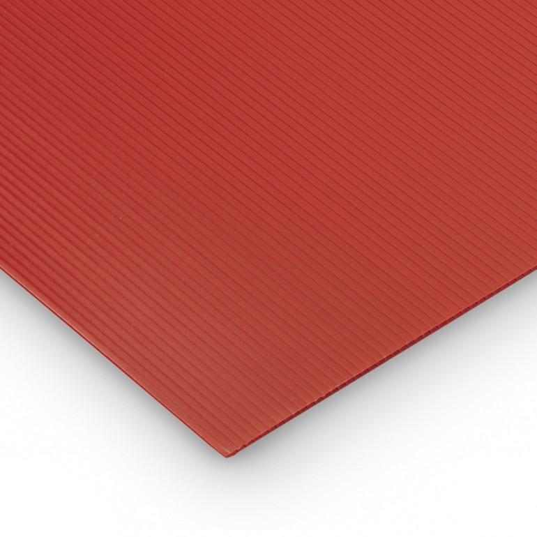 Polipropilene alveolare-polionda, colore Rosso, 200 x 100 cm