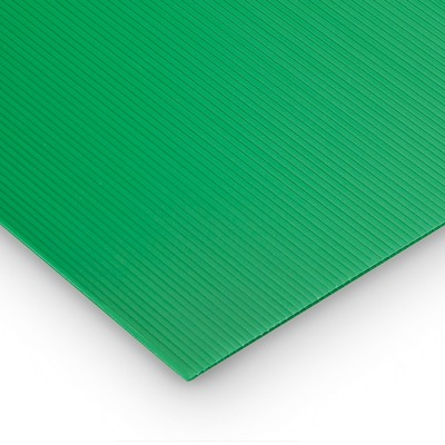 Polipropilene alveolare-polionda, colore Verde, 100 x 100 cm