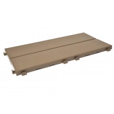 Confezione 162 Piastrelle autobloccanti in Plastica con Finitura ad Effetto Legno 37,7 x 18,6 cm da Interno Esterno e Giardino