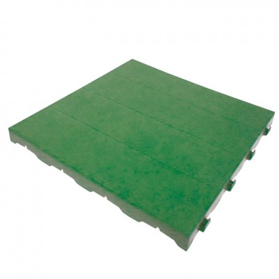Piastrella in Plastica da Esterno e Giardino 40 x 40 cm Piena. Confezione da 10 pezzi equivalente a 1,62 m2