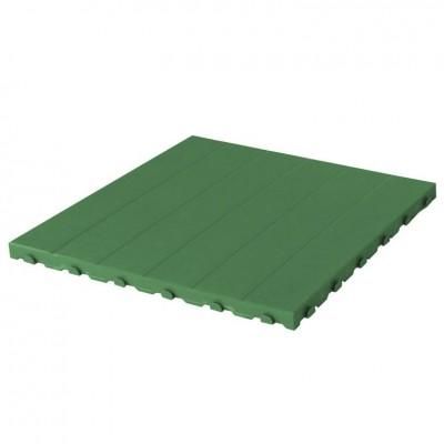 Confezione da 4 pezzi Piastrella in Plastica da Esterno e Giardino 60 x 60 cm Piena equivalente a 1,5 m2