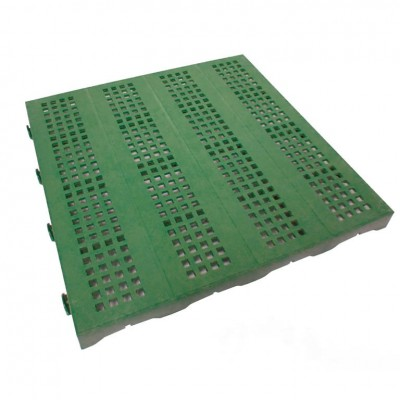 Confezione da 10 pezzi Piastrella in Plastica da Esterno e Giardino 40 x 40 cm Forata equivalente a 1,6 m2