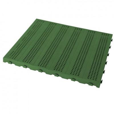 Confezione da 128 pezzi Piastrella in Plastica da Esterno e Giardino 60 x 60 cm Forata equivalente a 46 m2