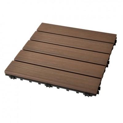 Plustile pavimentazione in plastica da esterno con finitura effetto legno 30 x 30cm PEZZI 10