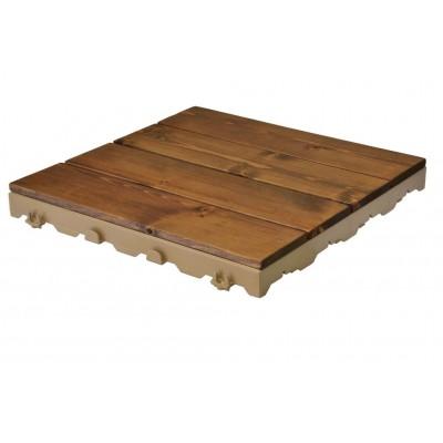 Woodstile pavimentazione modulare in legno base in plastica HDPE 40 x 40 cm, 1 PEZZO