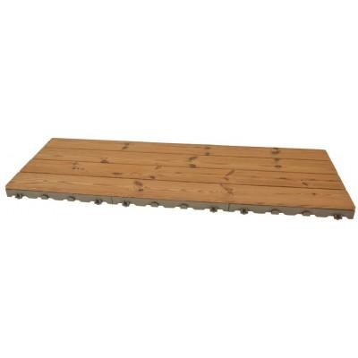 Woodstile pavimentazione modulare in legno base in plastica HDPE 120 x 40 cm PEZZI 44 equivalente a 21 m2