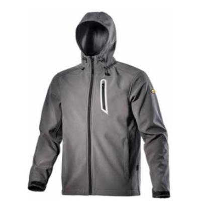 Diadora giacca da lavoro softshell Sail colore grigio bufera