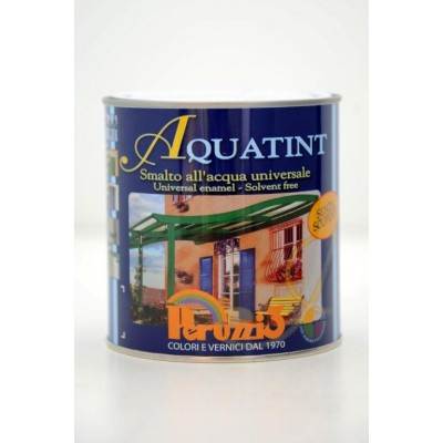 Smalto all'Acqua Universale AQUATINT, per Interni ed Esterni, 0,75 litri