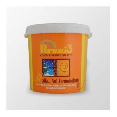 Termoisolante MUFFA NO! Pittura Murale con Microsfere di Vetro, Anticondensa, Fonoassorbente e Termoisolante, colore BIANCO