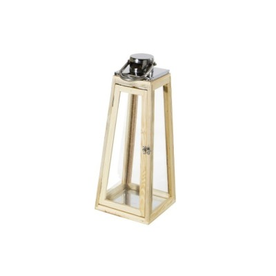 Lanterna in Legno e Acciaio JAIPUR, misura M