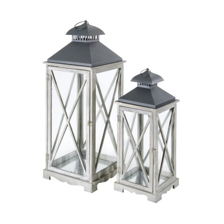 Set di 2 Lanterne Arles, colore Grigio
