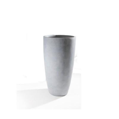 Vaso in Argilla mista Fibra di Vetro STONE, colore GRIGIO CHIARO