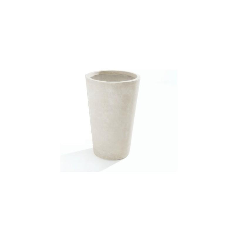 Vaso in Argilla mista Fibra di Vetro MAXIME, colore AVORIO, misura L