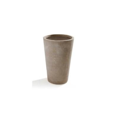 Vaso in Argilla mista Fibra di Vetro MAXIME, colore BEIGE, misura L