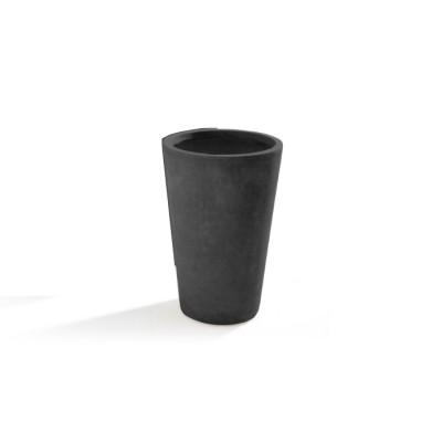 Vaso in Argilla mista Fibra di Vetro MAXIME, colore GRIGIO, misura L