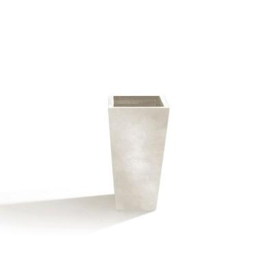 Vaso in Argilla mista Fibra di Vetro RAPHAEL, colore AVORIO, misura L