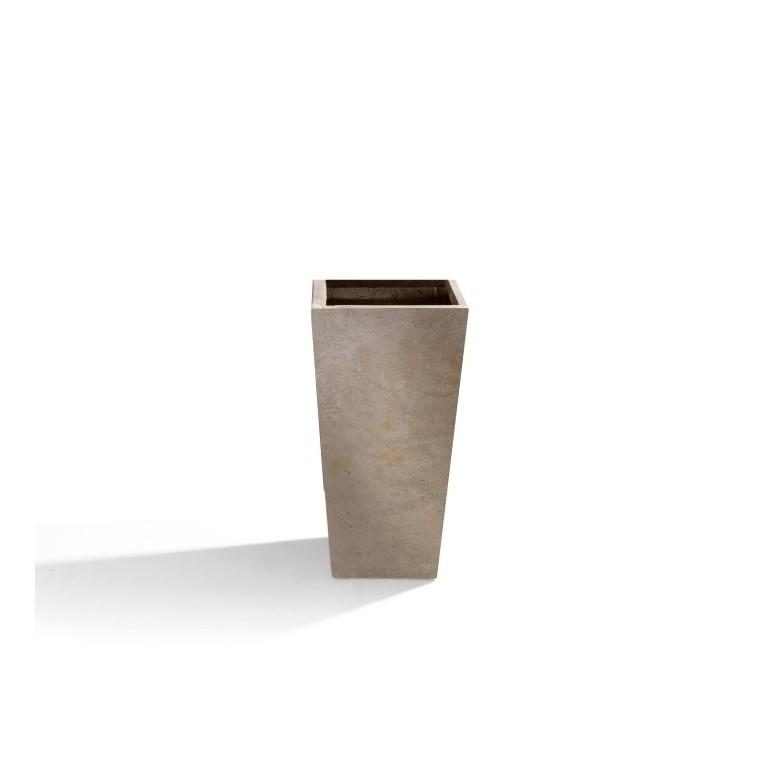 Vaso in Argilla mista Fibra di Vetro RAPHAEL, colore BEIGE, misura L
